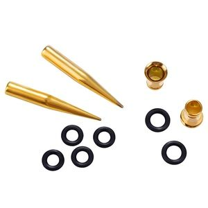 Jewelry - NEW Gauge Earrings Gold Steel 2 Tapers 2 Plugs Set